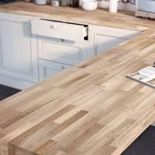 plan de travail bois chêne brut mat l 250 x p 65 cm ep 38 mm
