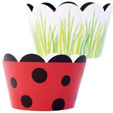 Amazoncom Ladybug Cupcake Wrappers 36 Reversible Wraps Ladybug
