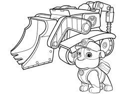 Paw Patrol Rubbles Bulldozer Coloring Page