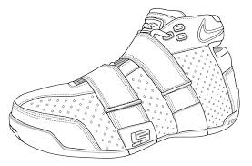 Lebron James Shoes Coloring Pages Images Pictures