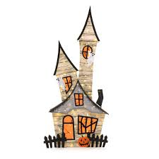 Halloween Chasing Ghosts Projector Light by Home Accents Holiday 80 In Burlap Ghost House Ty215 1724 The