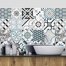 stickers carrelage salle de bain 25 pieces carrelage adhésif 20x20 cm ps00054 oslo adhésive