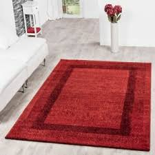 details zu moderner teppich wohnzimmer velours teppiche bordüre rot bordeaux sale