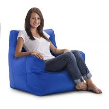 Interesting Blue Leather Bean Bag Chairs Decor For Your Family Room Plus Jaxx