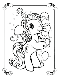 Unicorn Coloring Page Printable Pages For Kids In Color Rainbow My Little Pony
