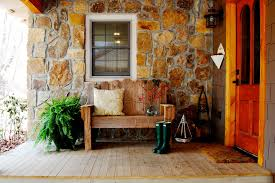 Wonderful Pier One Benches Decorating Ideas Images In Porch Rustic Design