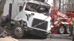 Tractor-trailer Carrying Kegs Falls From Ramp Onto I-95 Near ... Four Killed As Truck Hits Bus On Lagosibadan Expressway Premium Pepsi Crashes Into Fort Bend County Creek Abc13com Update One Dead After Tractor Trailer House In Carroll Truck Crash Chicago Best 2018 Woman Dies Crash Between Car I95 Cumberland Part Of Nb I69 Eaton Co Reopens 1 Critical Cdition Hwy 401 Near Dufferin The Poultry Reported Rockingham Cleveland His Got Stuck Then He Saw A Train Coming Sun Herald Louisa Man Gop Crozet