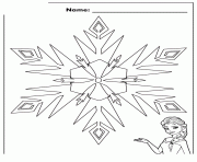 Elsa Frozen Snowflake Disney Coloring Pages