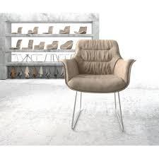 esszimmerstuhl dibernardo ebern designs farbe der polsterung beige microvelours vintage beinfarbe edelstahl gebürstet