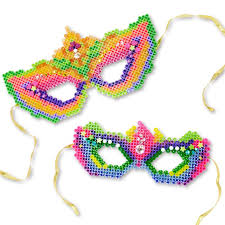 Make These Beautiful Fancy Masks For A Halloween Princess Or Fairy Costume Mardi Gras CostumesPerler BeadsBead PatternsSpecial