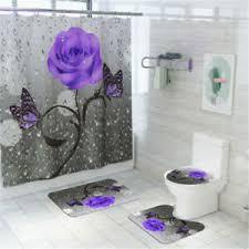 wc bodenmatte duschvorhang set badezimmer rutschfester