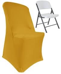 Gold Lifetime Folding Spandex Chair Covers, Stretch Lycra ... Chiavari Chairs Vs Chair Covers With Flair Gold Hug Cover Decor Dreams Blackgoldchampagne Satin Chair Covers Tie Back 2019 2018 New Arrival Wedding Decorations Vinatge Bridal Sash Chiffon Ribbon Simple Supplies From Chic_cheap Leatherette Quilted Fanfare Chameleon Jacket Medallion Decoration Package 61 80 People In S40 Chesterfield Stretch Spandex Folding Royal Marines Museum And Sashes Lizard Metallic Banquet Silver Outdoor