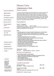 Administrative Clerk Resume Clerical Sample Template Job