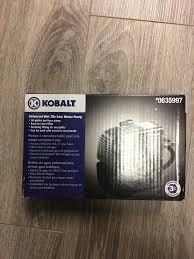 kobalt wet tile saw water pump universal durable housing power