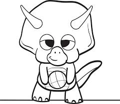 Printable Cartoon Dinosaur Coloring Page For Kids