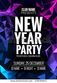 New Year Party Design Banner Event Celebration Flyer Template Festive Poster Invitation
