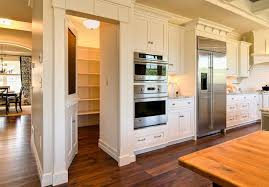 Hidden Pantry Transitional kitchen Duron Shell White