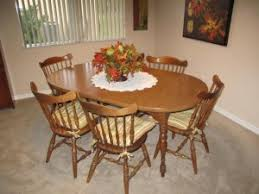 Hard Rock Maple Dining Room Set