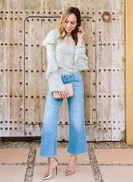 emma roberts u0027 cropped jeans u0026 ruffle top celebrity fashion