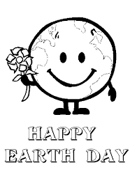 Earth Day Mr Say Happy To All Coloring Page