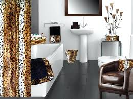 leopard print bathroombrown animal print bathroom accessories