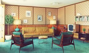 möbel im stil der 60er jahre klare formen knallige farben