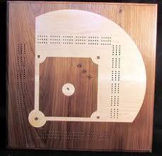 Splinters Woodworks Custom Three Person Baseball Field Cribbage Board