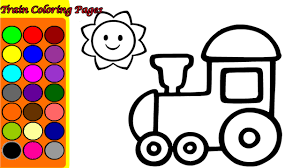 TRAIN COLORING PAGES GAME