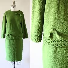 1960s Sweater Skirt Set 1960s Knit Dress Vintage Sweater Dress