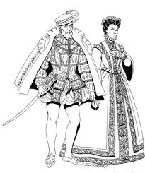 Renaissance Costumes And Clothing Free Printable Coloring Pages No 37
