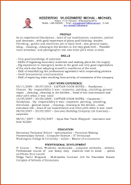 Self Employed Handyman Resume Ideas Job Description For Make Photo Gallery
