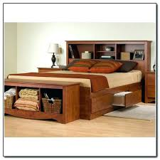 King Size Platform Bed With Headboard by King Bed With Bookcase Headboard Full Image For Full Size White