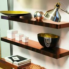 Ikea Floating Desk Shelf by Diy Copper Shelves This Hack Uses Simple Lack Shelves And Copper