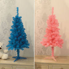3ft Christmas Tree Decoration Blue Pink