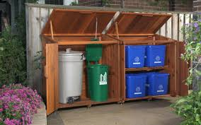 Rubbermaid Garden Sheds Home Depot by Storage Bins Trash Storage Bin Plans Garbage Home Depot Can Box