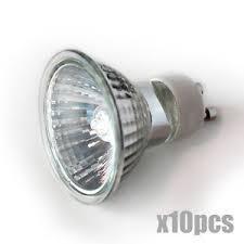 10pcs gu10 base 12v 120v 20w 35w 50w 75w halogen light bulb usa