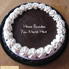 Design your own names of Chocolate Icecream Birthday Cake