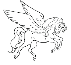 Related Coloring Pages Unicorn Realistic Together With The Winged