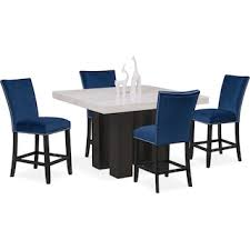 Artemis Counter Height Dining Table And 4 Upholstered Stools
