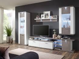ideal möbel liberty wohnwand kombination 35b weiß mit beton