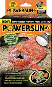 zoo med powersun uv mercury vapor l 160 watts pet products
