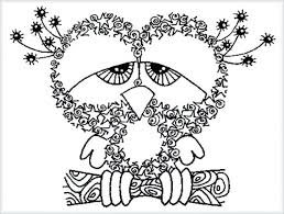 Owl Coloring Pages Adults Free Printable Christmas Barn Snowy