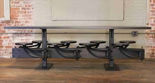 Iron Pipe Dining Table Industrial Pallet Desk Reviveries Roomsfurniture Stupendous Amazing Ideas