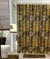 Small Bathroom Window Curtains Amazon by Amazon Com 18pcs Bath Rug Set Leopard Brown Bathroom Rug Shower