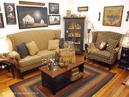 Living Room 3 Pieces Wood Wall Shelves Set Square Yellow Fabric Ottoman Coffee Table Arrangement Of Primitive Furniture