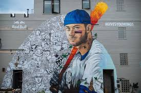 Big Ang Mural Chicago by Kris Bryant Mural Comes To Chicago