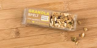 Granola Spelt Bar On Packaging Of The World