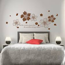 Paper Flower Removable Wall Stickers Bedroom Bedside Cozy Romantic Room Decor Creative Personality Klimts