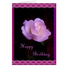 Lavender rose Happy Birthday Card
