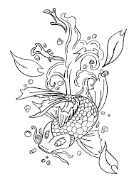 Koi Fish Coloring Pages For Kids